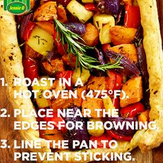 Rustic Roasted Vegetable Tart | Sweet potatoes, onion, parsnips and ...