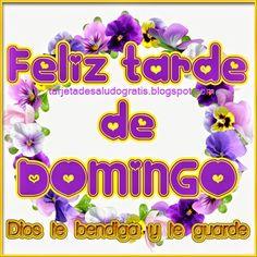 Tartjeta de feliz domingo Dios te bendiga y te guarde