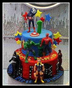 Avengers Cake for Christopher's 10th birthday!!!