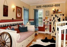 """""""Rope Wrangle Ride"""" vinyl lettering wall decal for cowboy western themed boy's bedroom. See more designs at Cowgirl Nursery, Western Nursery, Cowgirl Bedroom, Western Rooms, Western Decor, Western Wall, Cowboy Western, Kids Bedroom, Bedroom Decor"""