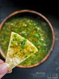 confessions of a foodie | recipes + photos: Fresh Authentic Salsa Verde {Recipe}