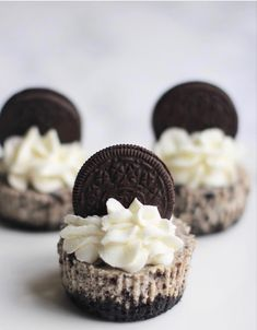 Cheesecakes, Mini Oreo Cheesecake, Something Sweet, High Tea, Minis, Muffins, Cupcakes, Desserts, Recipes