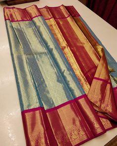 Pattu Sarees Wedding, Wedding Saree Blouse Designs, Half Saree Designs, Silk Saree Blouse Designs, Mehndi Designs, Cotton Sarees Handloom, Silk Saree Kanchipuram, Bridal Sarees South Indian, Bridal Silk Saree