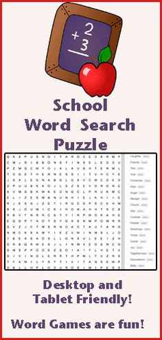 Find all the Words words hidden in this online word search puzzle. Words appear horizontally, vertically, diagonally, and backwards. This word game is fun for kids of all ages. We have word search puzzles on a variety of subjects. Word games are fun at S School Age Activities, Winter Activities For Kids, Summer Camps For Kids, Valentines Day Activities, Kids Learning Activities, Spring Activities, Summer Fun, Word Puzzles For Kids, Puzzle Games For Kids