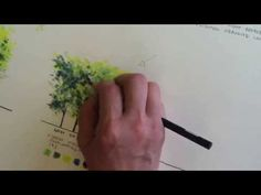 Rendering trees using colored pencil - YouTube