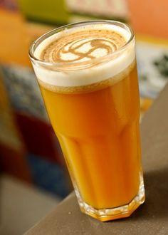 Chá gelado: mate + tangerina