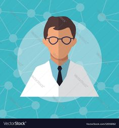 Character doctor scientist professional Vector Image by jemastock