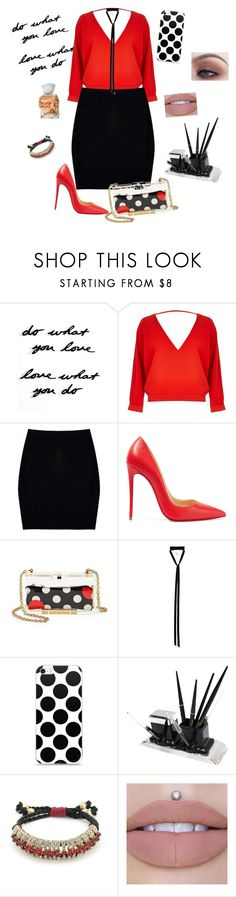 """Untitled #252"" by lyubasha199920 ❤ liked on Polyvore featuring Umbra, River Island, Boohoo, Christian Louboutin, RED Valentino, Ann Demeulemeester, Slater Zorn and Issey Miyake"