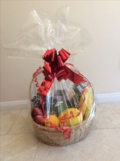 Fruit basket gift, which I made at home.