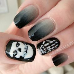 skull nail designs