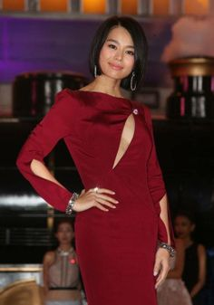 "2014 TVB Sales Presentation, HongKong - Myolie Wu wears the Azzaro dress ""Odyssée"" from the Fall Winter 2013 Collection"