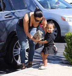 Kim Kardashian West and North West ♡♥