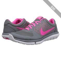 c231a2da33cb9 Nike Flex 2015 RUN (Cool Grey White Pink Pow) Women s Running Shoes