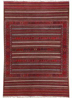"""Rose Oriental Maliki Kilim 3' 1"""" x 4' 7"""" (ft) - No. 17361"""