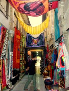 Shopping in Albaicin quarter, Granada, Spain.  http://www.costatropicalevents.com/en/costa-tropical-events/andalusia/cities/granada.html