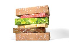 """This Set Includes:Two Sheets of BunOne Sheet of HamburgerOne Sheet of CheeseOne Sheet of LettuceOne Sheet of TomatoesAll wrapping paper sheets are 25"""" x 21"""". Made in the USA with recycled, 30% post-consumer waste"""