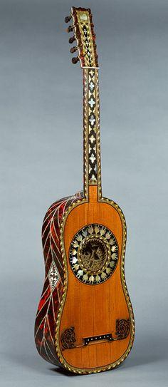 Guitar, 1697 Jean-Baptiste Voboam (French, 1658–after 1731) Paris