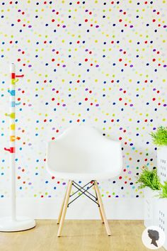 Colorful Polka Dot Paint Stain Self Adhesive Removable by Livettes