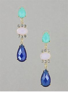 Whimisical Trio Earrings from P.S. I Love You More Boutique. www.psiloveyoumoreboutique.com