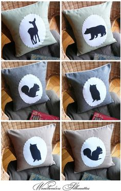 Woodlander pillow - wonder if I could mimic these