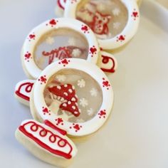 Snow globe sugar cookies with sugar glass. An edible winter wonderland.