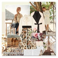 """""""Summer to Fall"""" by rainie-minnie ❤ liked on Polyvore featuring The Row, Yves Saint Laurent, Louis Vuitton, Ted Baker and Office"""