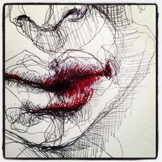 Biro Lips by Olivier Fischer    Drawdeck