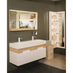 Meuble de salle de bains de 80 à 99, brun / marron, Eden | Leroy Merlin