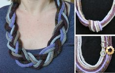 How to make simple statement necklaces using knitted i-cord:  three different designs