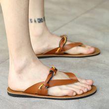 2016 hombres sandalias de playa flip flop zapatillas de verano cuero genuino gladiador sandalias más el tamaño 39-44 zapatos blanco negro marrón :(China (Mainland))
