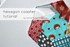 Hexagon coaster tutorial from Canoe Ridge Creations. So cute! #quilting #sewing