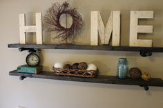 Reclaimed Wood Letters  H M E by southernbellesign on Etsy