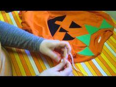 Last Minute Halloween Costume - No Sew Pumpkin