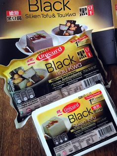 Cuisine Paradise | Singapore Food Blog | Recipes, Reviews And Travel: Unicurd Black Soybean Silken Tofu And Tua Kwa - New Unicurd Black Soybean Silken Tofu and Tau Kwa (firm tofu)