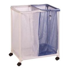 Large Laundry Sorter Chrome Hamper Canvas Large #laundry Sorter Wash Clothes #hampers