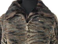 Skea Womens Vail Paris Faux Fur Zebra Animal Print Jacket Sz 4 Apres Ski  Bunny  b1bc2bbf0