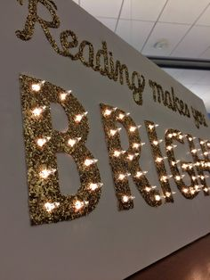 Literary Hoots: Library Display: Reading Makes You Bright