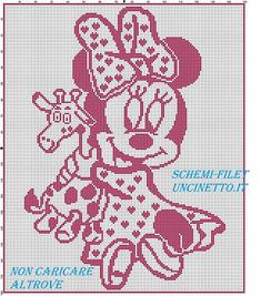 Μωρό Minnie σχέδιο σταυροβελονιά με coperina καμηλοπάρδαλη