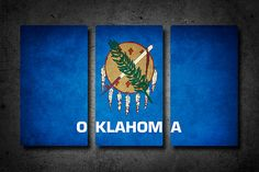 ____________________________________________________________________________ HOLIDAY SALE ending soon! 20% OFF total purchase with code: HOLIDAY20 ____________________________________________________________________________  Show your Oklahoma pride with this original canvas flag triptych.  Printed on high-quality canvas material with archival inks. The canvas is wrapped around a light-weight, wood framework with a 1¼ side depth for a frameless presentation. Ready to hang with a sawtooth…