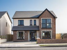 4 Bed Detached House, Castleway, Kinsealy Lane, Malahide, Co. House Extension Plans, House Extension Design, House Design, Extension Ideas, Garden Design, Rendered Houses, House Cladding, Modern Farmhouse Exterior, Modern Bungalow Exterior