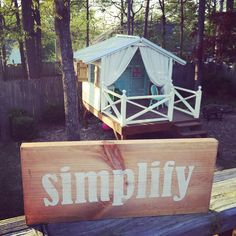 Simplify Wood Sign Painted in Distressed White by CleverGoose