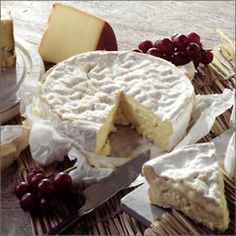 French Brie with grapes