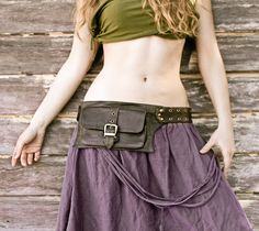 women leather hip bag in Olive belt pouch hip by Shovavaleather, $78,00