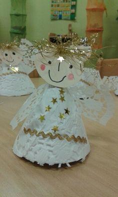 """Andělíček """"šikovných holčiček""""z mš Slunečnice:-D Advent, Christmas Art, Tis The Season, Christmas Crafts, Thanksgiving, Seasons, Gifts, School, Xmas"""
