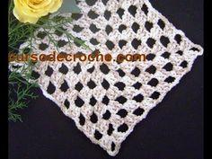Square em crochê quadrado básico para iniciantes - Edinir-Crochê