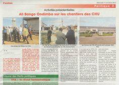 Gabon Ali Bongo en chantier