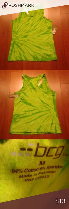 New pretty lime & green  color sports tank tops Very nice pattern  nice color by bcg bcg Tops Tank Tops