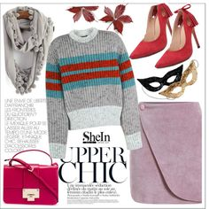 Shein by teoecar on Polyvore featuring moda, Jonathan Saunders, Jimmy Choo and H&M