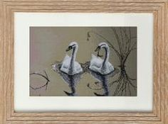 Вышивка крестом B346 A Couple of Swans Cross