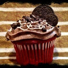 Red Velvet Oreo-Buttercream Jumbo Cupcake soooo good!